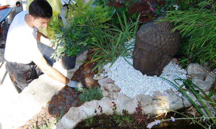 Création de jardin zen Rives